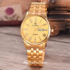 Spesifikasi Saint Costie Jam Tangan Wanita Body Gold Gold Dial Stainless Steel Band Sc Rt T H 5522 L Gg Gold Bagus