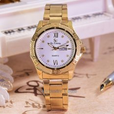 Diskon Saint Costie Jam Tangan Wanita Body Gold White Dial Sc Rt 5759A T H Gw Gold Stainless Steel Band