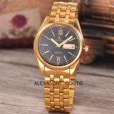 Jual Saint Costie Original Brand Jam Tangan Pria Body Gold Black Dial Stainless Stell Band Sc Rt 5236B G Gb Th Ori
