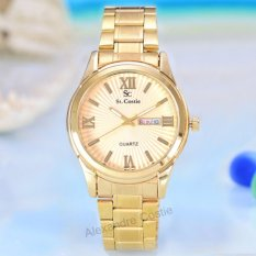 Review Saint Costie Original Brand Jam Tangan Pria Body Gold Gold Dial Stainless Stell Band Sc Rt 5101 G Gg Terbaru