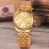 Harga Hemat Saint Costie Original Brand Jam Tangan Pria Body Gold Gold Dial Stainless Stell Band Sc Rt 5236A G Gg Th