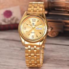 Jual Saint Costie Original Brand Jam Tangan Pria Body Gold Gold Dial Stainless Stell Band Sc Rt 5236A G Gg Th Saint Costie Online