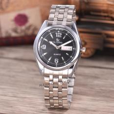 Kualitas Saint Costie Original Brand Jam Tangan Pria Body Silver Black Dial Stainless Stell Band Sc Rt 5236A G Wb Th Saint Costie