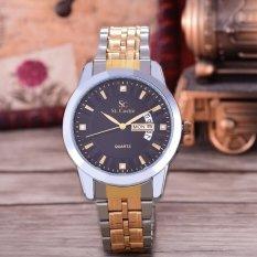 Saint Costie Original Brand, Jam Tangan Pria - Body Silver/Gold - Black Dial