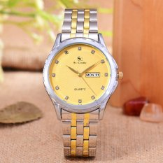 Harga Hemat Saint Costie Original Brand Jam Tangan Pria Body Silver Gold Gold Dial Stainless Stell Band Sc Rt 8001G T H Sgg