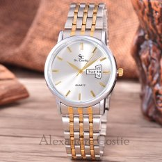 Rp 95.500. Saint Costie Original Brand, Jam Tangan Pria - Body Silver/Gold – White Dial - Stainless Stell Band ...