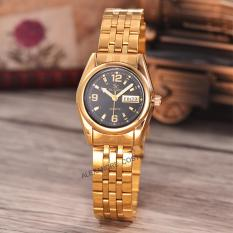 Rp 91.500. Saint Costie Original Brand-Jam Tangan Wanita-Body gold-black dial-Stainless Stell Band-SC-RT-5236A-L-GB-THIDR91500
