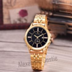 Spesifikasi Saint Costie Original Brand Jam Tangan Wanita Body Gold Black Dial Stainless Stell Band Sc Rt 8001L Tgl Gb Gold Detik Online