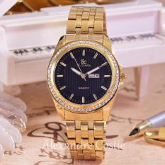 Harga Saint Costie Original Brand Jam Tangan Wanita Body Gold Black Dial Sc 5760C Gb Th Gold Stainless Steel Band Dan Spesifikasinya