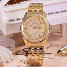 Harga Saint Costie Original Brand Jam Tangan Wanita Body Gold Gold Dial Sc 5760B Gg Th Gold Stainless Steel Band Satu Set
