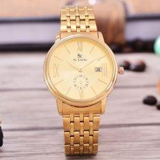 Beli Saint Costie Original Brand Jam Tangan Wanita Body Gold Gold Dial Stainless Steel Band Sc Rt 8007L Detik Kcl Gg Terbaru