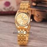 Beli Saint Costie Original Brand Jam Tangan Wanita Body Gold Gold Dial Stainless Stell Band Sc Rt 5236B G Gg Th Terbaru
