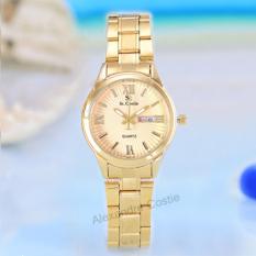 Promo Saint Costie Original Brand Jam Tangan Wanita Body Gold Gold Dial Stainless Stell Band Sc Rt 5101 L Gg