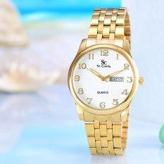 Harga Saint Costie Original Brand Jam Tangan Wanita Body Gold White Dial Stainless Steell Band Sc Rt 5399L Gw Termurah