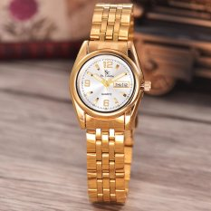Jual Beli Saint Costie Original Brand Jam Tangan Wanita Body Gold White Dial Stainless Stell Band Sc Rt 5236A L Gw Th