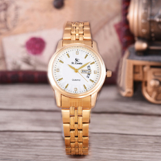 Jual Beli Saint Costie Original Brand Jam Tangan Wanita Body Gold White Dial Stainless Stell Band Sc Rt 8031L Th Gw Gold