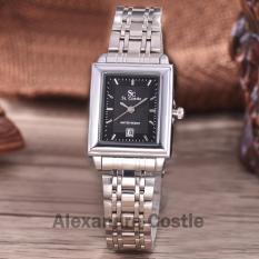 Saint Costie  Original Brand, Jam Tangan Wanita - Body Silver - Black Dial - Stainless Stell Band - SC-RT-244L-TGL-SB-PNP