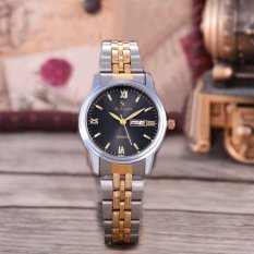 Beli Saint Costie Original Brand Jam Tangan Wanita Body Silver Gold Black Dial Stainless Stell Band Sc Rt 8026L Th Sgb Komb Online