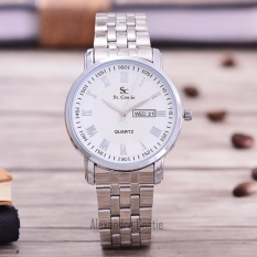 Review Saint Costie Original Brand Jam Tangan Wanita Body Silver White Dial Stainless Steel Band Sc Rt 8011L Th Sw Pnp