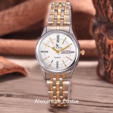 Iklan Saint Costie Original Brand Jam Tangan Wanita Body Silver Gold White Dial Stainless Steel Band Sc Rt 8023A L T H Sgw Komb