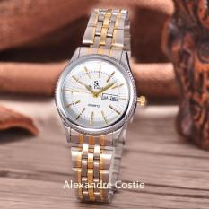 Saint Costie Original Brand Jam Tangan Wanita Body Silver Gold White Dial Stainless Stell Band Sc Rt 8023B L T H Sgw Komb Indonesia