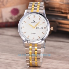 Promo Saint Costie Original Brand Jam Wanita Body Silver Gold White Dial Sc Rt 5280L Komb W Stainless Stell Band