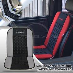 Saizen Cover Jok Mobil/Sandaran Punggung/Pijat/Kursi Kesehatan Mostwanted - Abu-abu