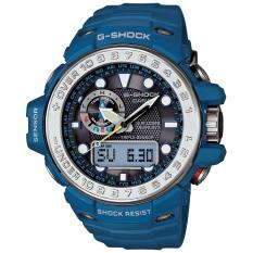 SALE - CASIO G-SHOCK GWN-1000-2A - GULFMASTER - Analog-Digital - Time Calibration - Altimeter - Multifunction - Jam Tangan Pria - Bahan Tali Resin - Biru