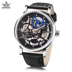 Spesifikasi S L Sewor Sw086 Pria Tangan Mekanik Watch Hollow Out Dial Luminous Kulit Asli Band Wristwatch Hitam Intl Yang Bagus