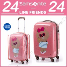 SAMSONITE X LINE FRIENDS KOREA Choco Spinner 24 Inch Travel Carrier Luggage Koper Polycarbonate-Intl