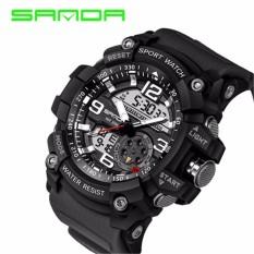 SANBA Merek Pria G Gaya Fashion Jam Tangan Sport LED Digital 30 M Tahan Air Pria Watch Analog Jam Tangan Elektronik Militer Digital Wrist Watch-Intl