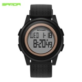 Top 10 Sanda 337 Multifungsi Elektronik Watch Sports Led Jam Tangan Pria Hitam Intl Online