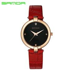 Promo Sanda Merek Wanita Trendi Jam Quartz 2017 Merek Terkenal Mewah Clock Wrist Watch Ladies Fashion Quartz Watch Montre Femme Relogio Feminino Intl