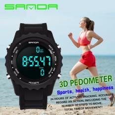 Sanda Mens Sport Watch Ladies Digital Watch Militer Tahan Air Led Display Watch Pedometer Watch-Intl By Have Love Mall.
