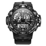 Harga Sanda Olahraga Pria Tahan Air Lcd Digital Alarm Jam Tangan Analog Tanggal Kuarsa Hitam Sanda Terbaik