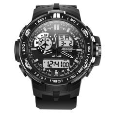 Spesifikasi Sanda Olahraga Pria Tahan Air Lcd Digital Alarm Jam Tangan Analog Tanggal Kuarsa Hitam Dan Harganya