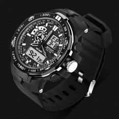 Spesifikasi Sanda Pria Sport Tahan Air Lcd Digital Analog Quartz Tanggal Alarm Wristwatch Watch Hitam Murah