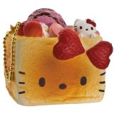 Jual Sanrio Gantungan Kunci Hello Kitty Squishy Seri Lovely Sweets Brick Toast Stroberi