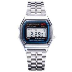 Harga Santorini Jam Tangan Unisex Digital Led Sport Men Women Stopwatch Stainless Steel Quartz Wrist Watch Yang Bagus