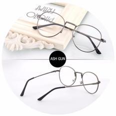 Santorini Kacamata Wanita Harry Potter Fashion  Vintage Eyewear Metal Frame Women Lady Eye Wear - Grey