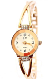 Sanwood® Wanita Rose Emas Plated Alloy Rhinestone Quartz Analog Wrist Watch Promo Beli 1 Gratis 1