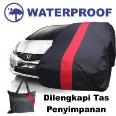 Sarung Bodi Mobil Honda Jazz Cover Bodi Anti Air Waterproof Selimut Penutup Pelindung Merah
