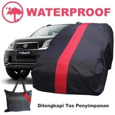 Sarung Body Cover Mobil Rush Terios Penutup Pelindung Selimut Waterproof Merah