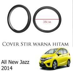 Sarung Cover Stir Setir Steer Mobil All New Jazz 2014 Warna Hitam