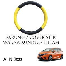 Sarung Cover Stir Setir Steer Mobil All New Jazz Warna Hitam Kuning