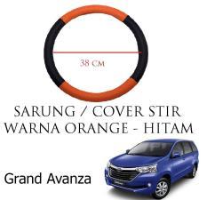 Sarung / Cover Stir / Setir / Steer Mobil Grand Avanza Warna Hitam Orange
