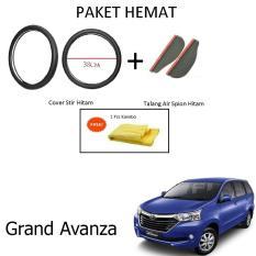 Sarung / Cover Stir / Setir / Steer Mobil Grand Avanza Warna Hitam + Talang Air Spion Hitam