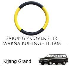 Sarung / Cover Stir / Setir / Steer Mobil Kijang Grand  Warna Hitam Kuning