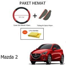 Sarung Cover Stir Setir Steer Mobil Mobilio Warna Hitam Merah Talang Air