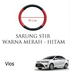 Sarung / Cover Stir / Setir / Steer Mobil Vios Warna Merah Hitam